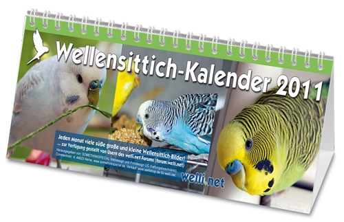 Wellensittich-Kalender