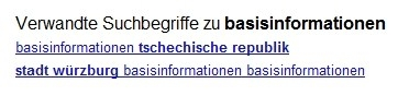 Suggestion Basisinformationen