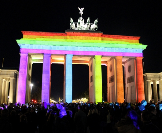Farbiges Brandenburger Tor