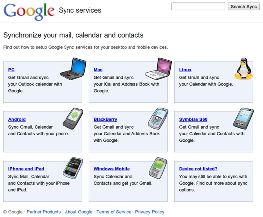 Google mobile Synchronisierung