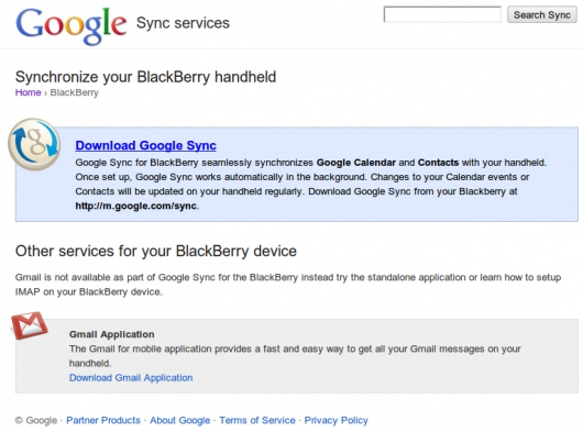 Blackberry Synchronisierungs-Tool