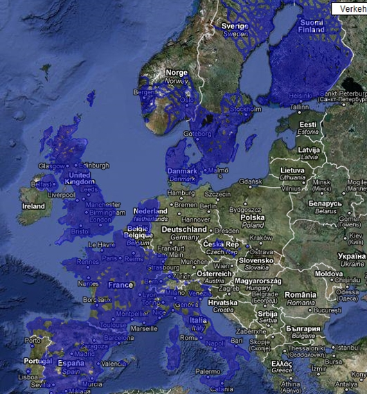 Google Streetview in Europa